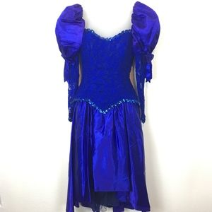 Vintage 90s Made in the USA Prom / Showgirl Dress